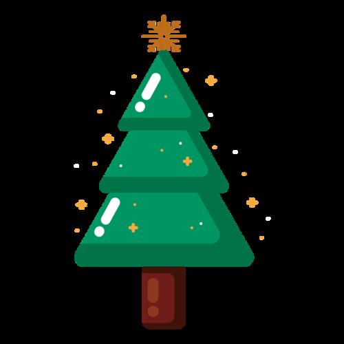 绿色卡通圣诞树图片