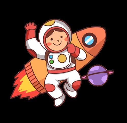 宇航员卡通画素材
