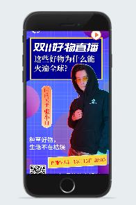 双11好物直播海报
