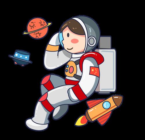 卡通宇航员简笔画