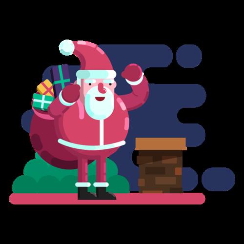 圣诞节元素装饰图案