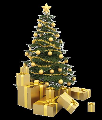 礼盒圣诞树图片