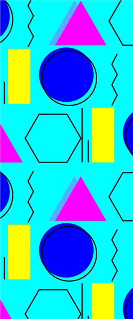 孟菲斯几何图形海报背景