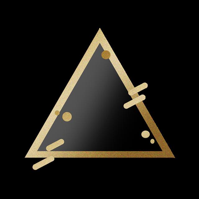 黑金三角形几何边框