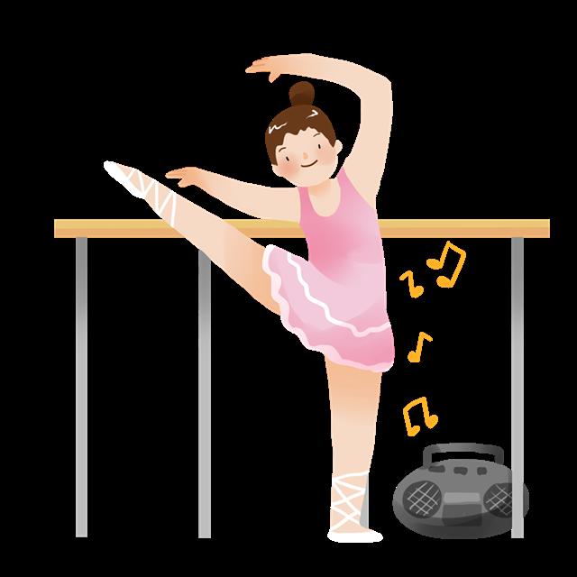 舞蹈学生卡通人物图片