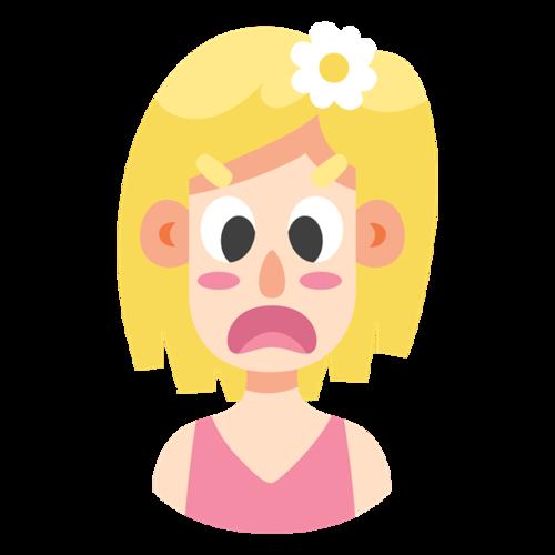 金发女生头像