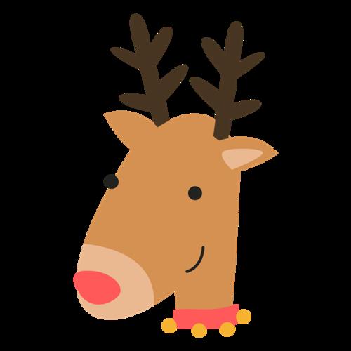 圣诞节麋鹿卡通图片