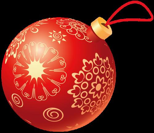 红色圣诞球矢量图片