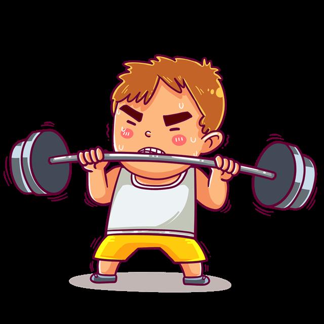 健身房人物图片