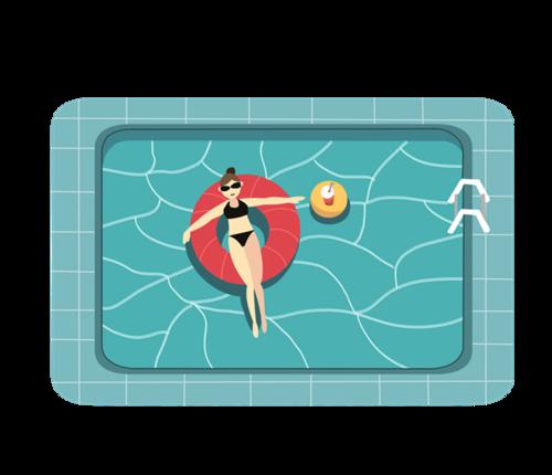 游泳池卡通图片素材