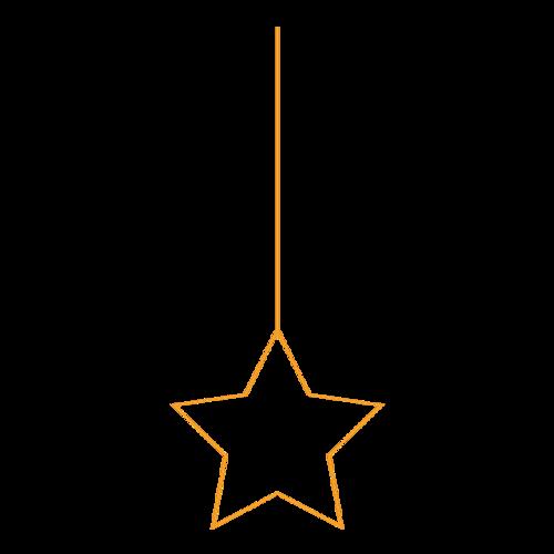 金色五角星挂饰