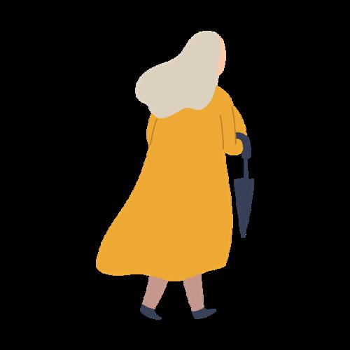 穿大衣的女人背影图片