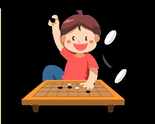 下围棋的卡通人物图片