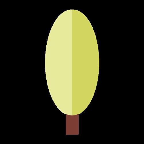 扁平化卡通树木图片