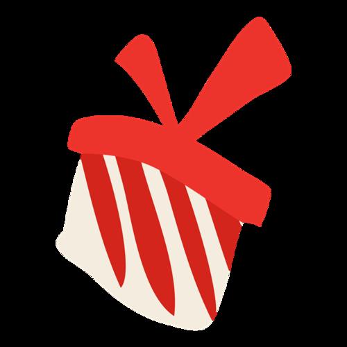 红色条纹礼物盒