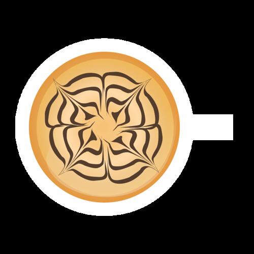 唯美咖啡拉花图案