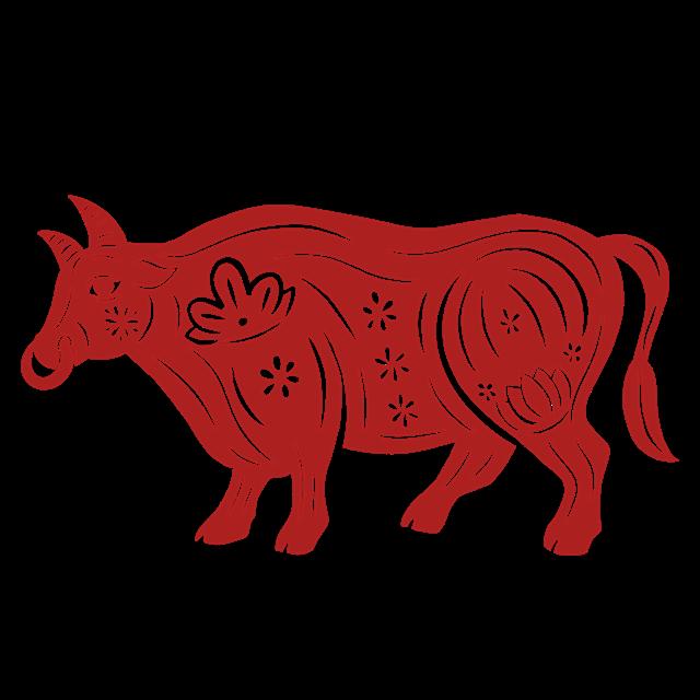 2021牛年剪纸图案