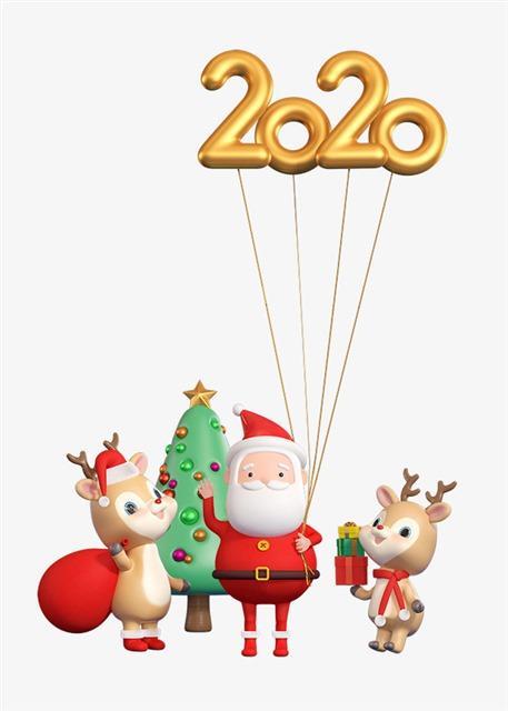 2020圣诞老人圣诞节图片