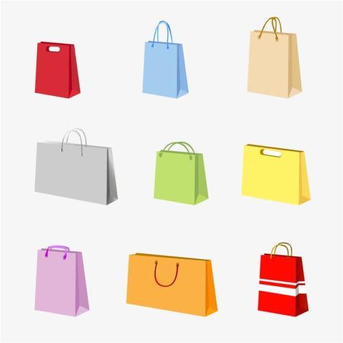 环保购物袋矢量图片