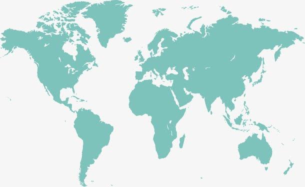 七大洲地图轮廓简图