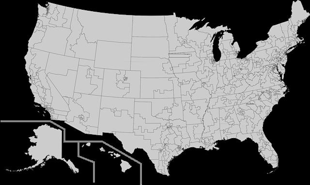 美国地图高清版大图