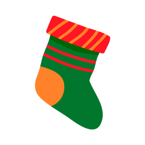 手绘创意圣诞袜子