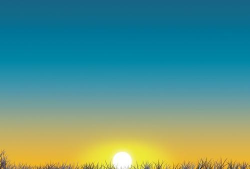 落日天空免抠图片