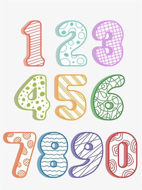 阿拉伯数字艺术字