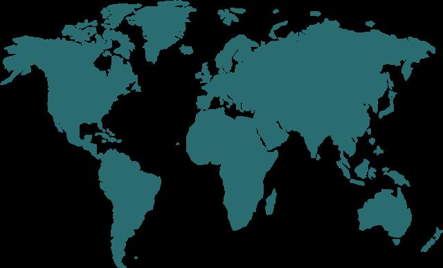 世界地图纯色矢量图