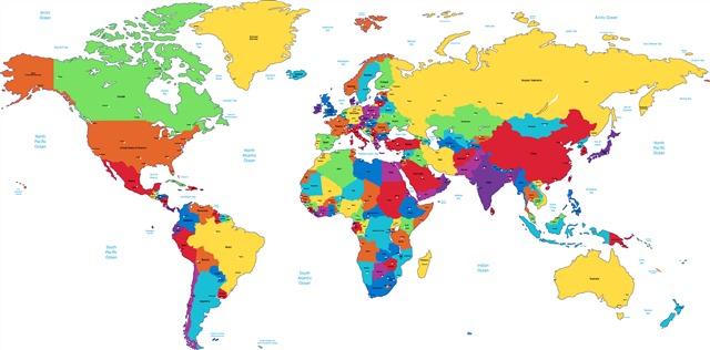 4K超高清世界地图
