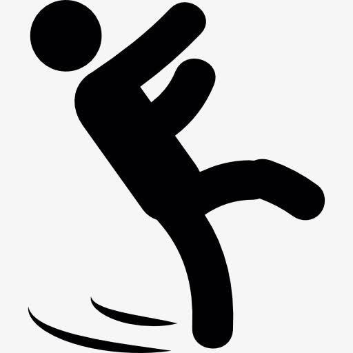 小心地滑易摔倒警示标志