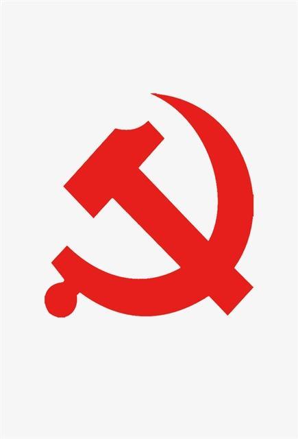 红色党徽矢量图片