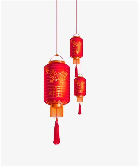 春节灯笼装饰图片
