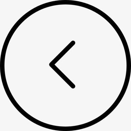 向左圆形箭头线性图标