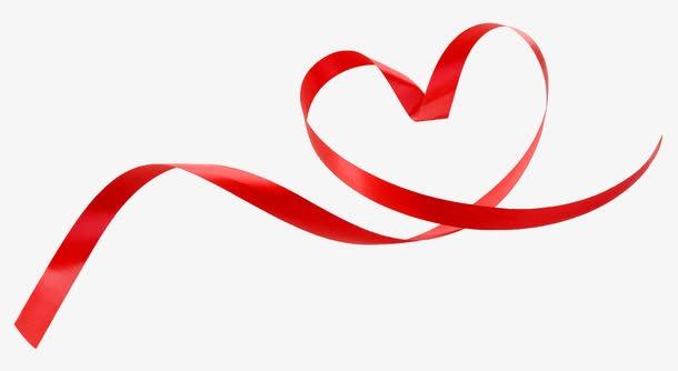爱心红丝带装饰