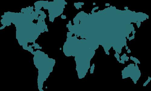 世界地图板块矢量图
