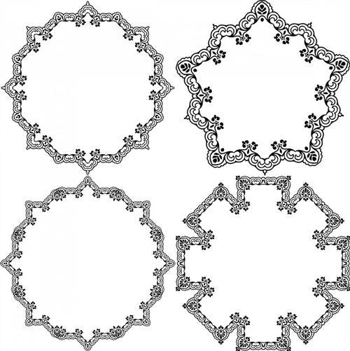 欧式复古经典花纹边框