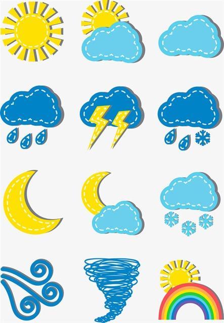 卡通天气预报图标
