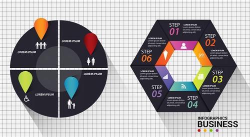 PPT循环流程图模板