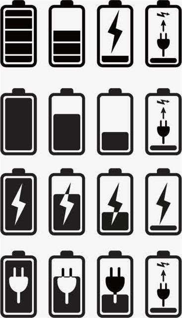 电池电量矢量图标