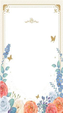 花卉海报边框