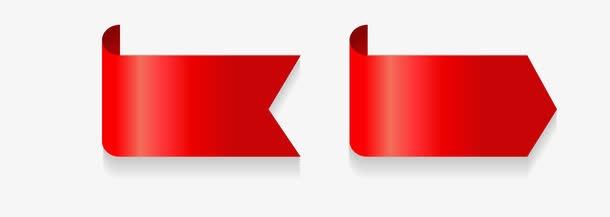 红色丝带标签图片