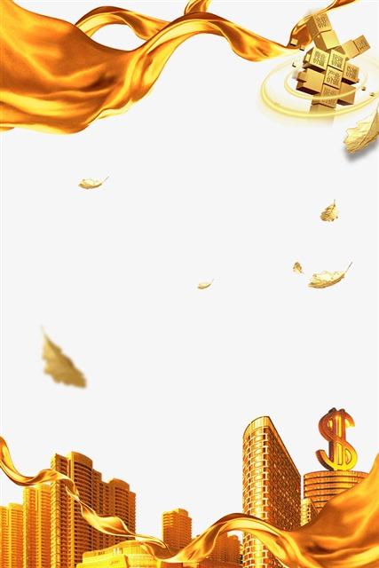 金融理财海报背景装饰