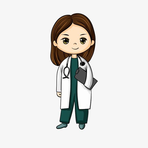 职业女医生卡通人物