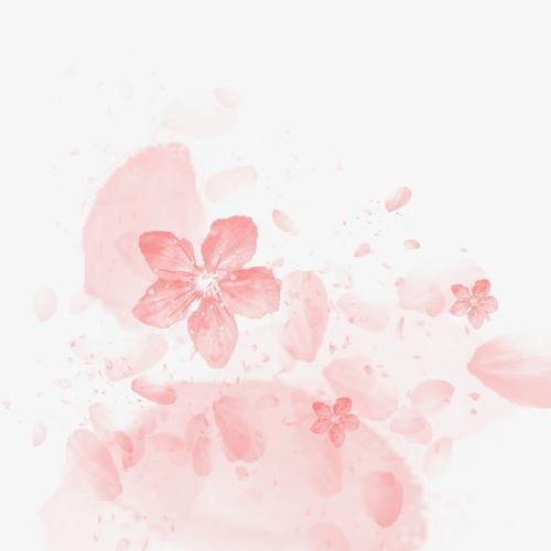 手绘灿烂樱花唯美图片