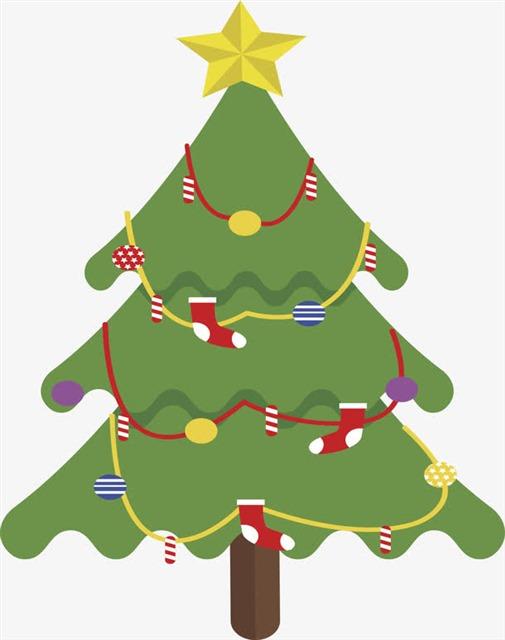 手绘圣诞树矢量图片