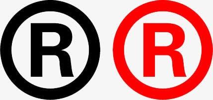 R字商标矢量图标
