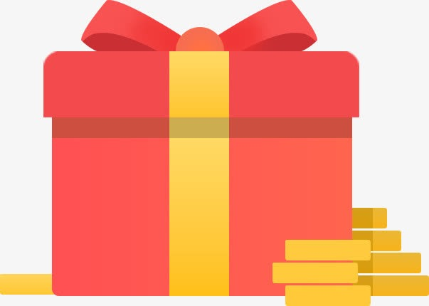 简约扁平红色礼物盒