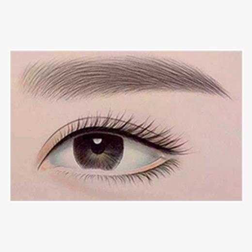眼睛素描图片