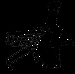 购物车人物剪影
